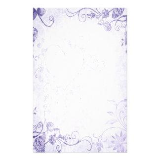 Casamento vintage roxo elegante papel personalizado