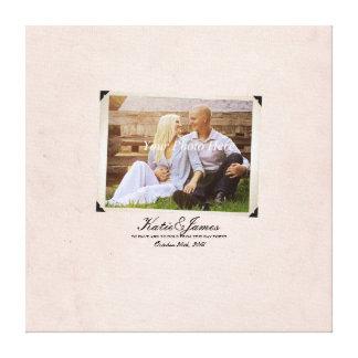 Casamento vintage rústico da foto do noivado