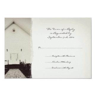 Casamento vintage velho RSVP da igreja Convite 8.89 X 12.7cm