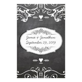 Casamentos da tipografia do quadro papelaria