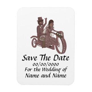 Casamentos do motociclista da imã salve a data