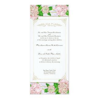 Casamentos elegantes formais florais do laço convites personalizados
