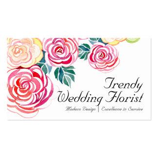 Casamentos florais da flor da arte moderna dos ros modelo cartoes de visitas