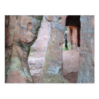 Casas da rocha da borda de Kinver Cartoes Postais