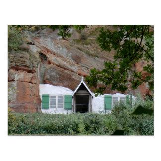 Casas da rocha da borda de Kinver Cartao Postal
