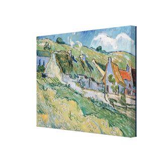 Casas de campo Thatched por Vincent van Gogh Impressão Em Tela