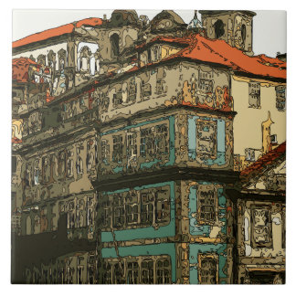 Casas do vintage em Veneza Italia Azulejos