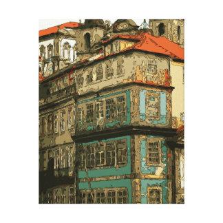 Casas do vintage em Veneza Italia Impressão Em Tela