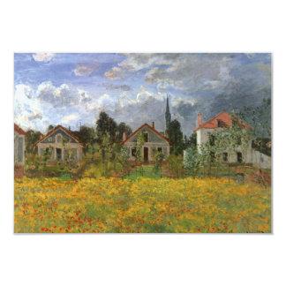 Casas em Argenteuil por Monet, mudança de endereço Convites Personalizados