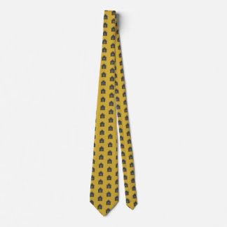 Casas na gravata dos homens do ouro