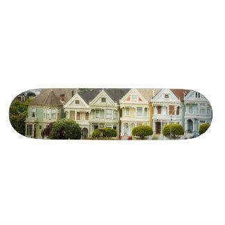 Casas pintadas das senhoras, do Victorian e skylin Shape De Skate 18,4cm