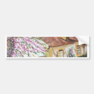 Casas Rústica - óleo - 55x46 Adesivo Para Carro