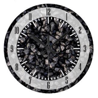 Cascalho do asfalto relógios para pendurar