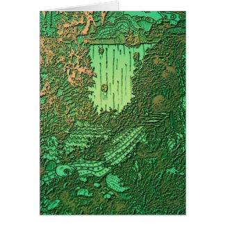 Cascatas no cobre cartão comemorativo