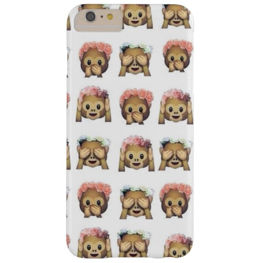 Case iPhone 6 Monkey Flower Emoji Capas iPhone 6 Plus Barely There