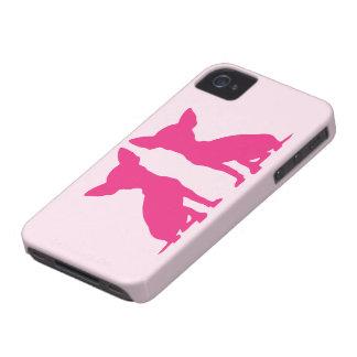 Case mate corajosa bonito de Blackberry do cão Capinhas iPhone 4