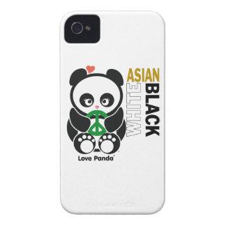 Case mate corajosa de Panda® Blackberry do amor Capa Para iPhone 4 Case-Mate