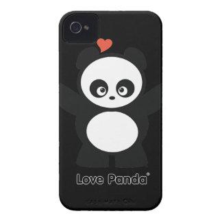 Case mate corajosa de Panda® Blackberry do amor Capas Para iPhone 4 Case-Mate