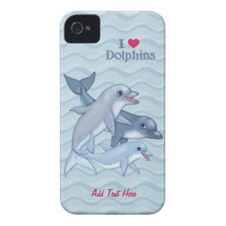 Case mate da família do golfinho capa para iPhone 4 Case-Mate