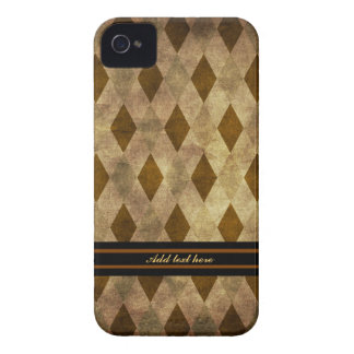 Case mate de Argyle de Brown e de ouro Capinhas iPhone 4