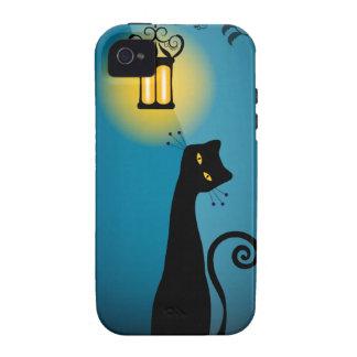 Case mate do iPhone 4/4S do gato preto Capa Para iPhone 4/4S