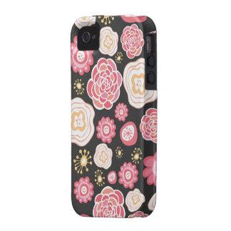 Case mate floral feminino Iphone do teste padrão Capas Para iPhone 4/4S