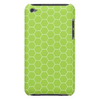 case mate verde ácida do teste padrão do favo de capa para iPod touch