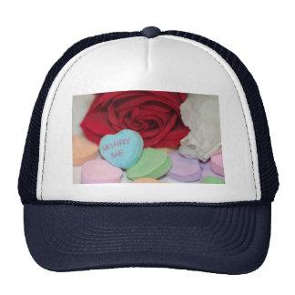 """""""Case-me"""" chapéu do coração dos doces do dia dos n Boné"""