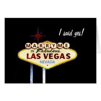 Case-me em Las Vegas, eu disse sim! Cartão