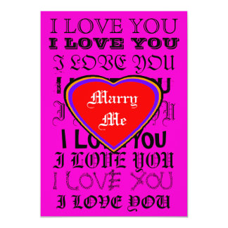 Case-me EU TE AMO os presentes de Zazzle do MUSEU Convite 12.7 X 17.78cm