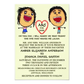 Case minhas pessoas dos desenhos animados do convite personalizados
