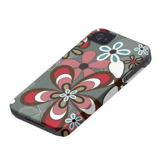 CaseMate retro do iPhone 4 de flower power do Capas Para iPhone 4 Case-Mate