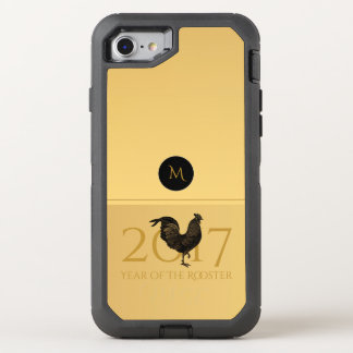 Caso 2017 chinês do ano novo O do galo chique do Capa Para iPhone 7 OtterBox Defender