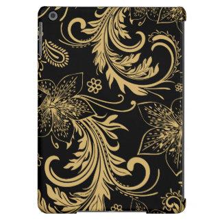 Caso à moda do preto e do ouro capa para iPad air