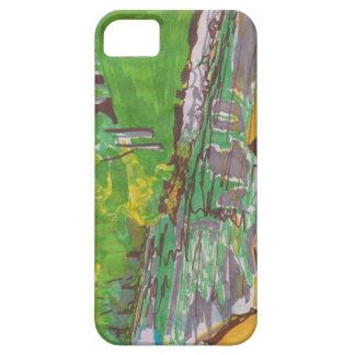 Caso abstrato capa para iPhone 5