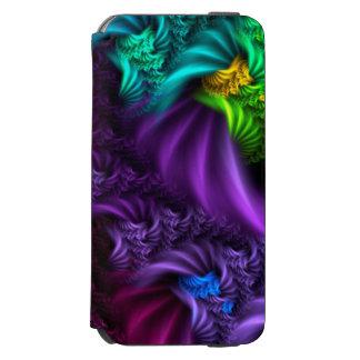 Caso abstrato da arte do Fractal do roxo Capa Carteira Incipio Watson™ Para iPhone 6