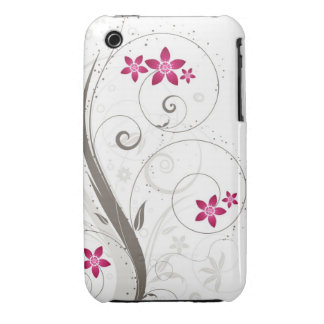Caso abstrato do blackberry curve do design floral capa para iPhone 3