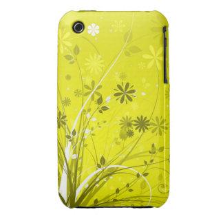 Caso abstrato do blackberry curve do design floral capas para iPhone 3 Case-Mate