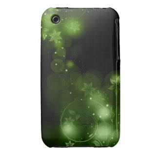 Caso abstrato do blackberry curve do design floral capinhas iPhone