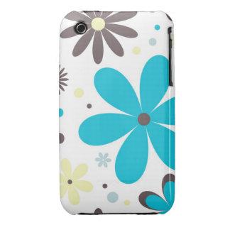 Caso abstrato do blackberry curve do design floral capinhas para iPhone 3