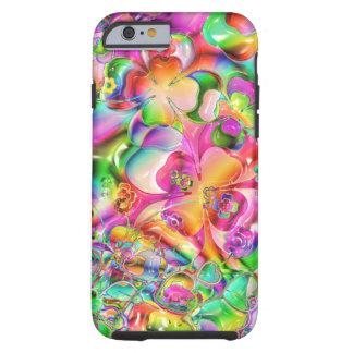 Caso abstrato do iPhone 6 das flores coloridas do Capa Tough Para iPhone 6