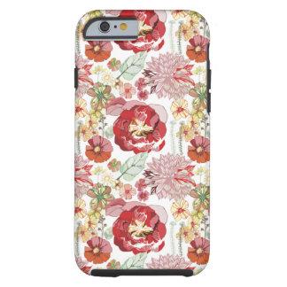 caso abstrato do iPhone 6 dos chysanthemums dos Capa Tough Para iPhone 6