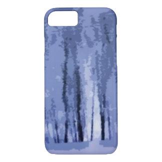 Caso abstrato do iPhone 7 das madeiras azuis do Capa iPhone 7