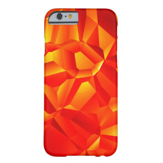 Caso abstrato do vermelho capa barely there para iPhone 6