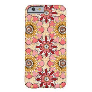 Caso abstrato floral do iPhone 6 perto Capa Barely There Para iPhone 6