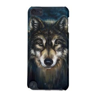 Caso artístico do ipod touch 5G da cara do lobo Capa Para iPod Touch 5G