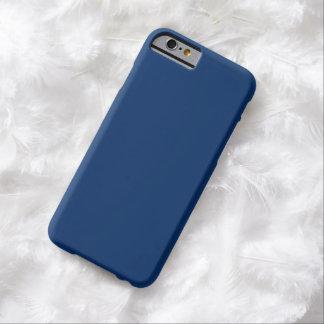 Caso azul escuro liso do iPhone 6 Capa Barely There Para iPhone 6