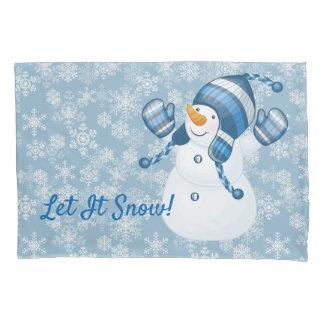 Caso-Boneco de neve do travesseiro do feriado de