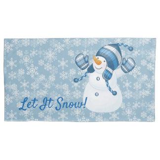 Caso-Boneco de neve-Rei Tamanho do travesseiro do