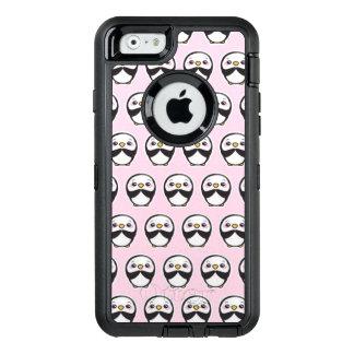 Caso bonito do iPhone 6/6s Otterbox do pinguim